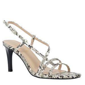 Strappy Snakeskin Sandals size 6.5